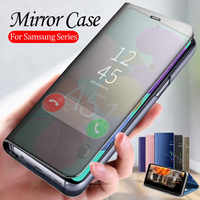Smart Mirror Flip Case For samsung a51 phone Cover samsun a50 a10 a20 a30 a40 A60 a70 A10s a20s A30s a50s a71 book fundas coque