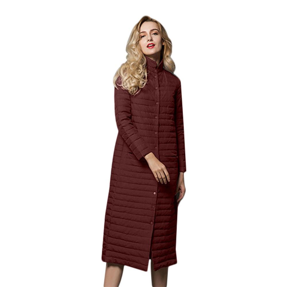 2020 Thin Long Ultra Light Down Jacket Women Coat Winter Women's Jackets Clothing Overcoat Parkas Chaqueta Mujer KJ400