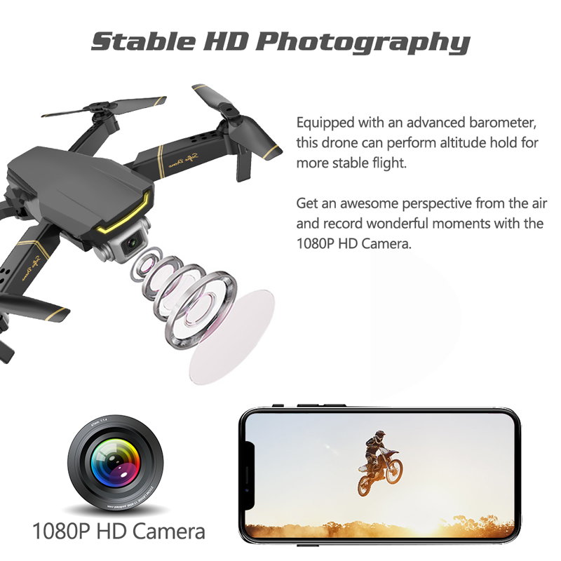 Global Drone GW89 WIFI FPV Dron with HD 1080P Camera Foldable RC Helicopter Toys for Kids Drone X Pro RTF Quadcopter VS E58 E520