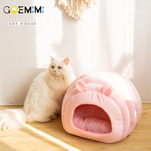 2019 Warm Cat Cave House Foldable Puppy Kitten Sleeping Bag Comfortable Soft Small Dog Kennel Bed Winter Pet Nest cat cave bed