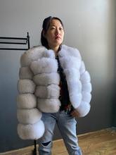 Fashion winter warm leather coat natural fox fur coat real fox fur jacket winter thick warm coat