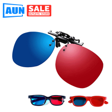 AUN Simple Blue Red 3D Glasses For Led Projector Support Blue Red Video Picture 2pcs Dl02