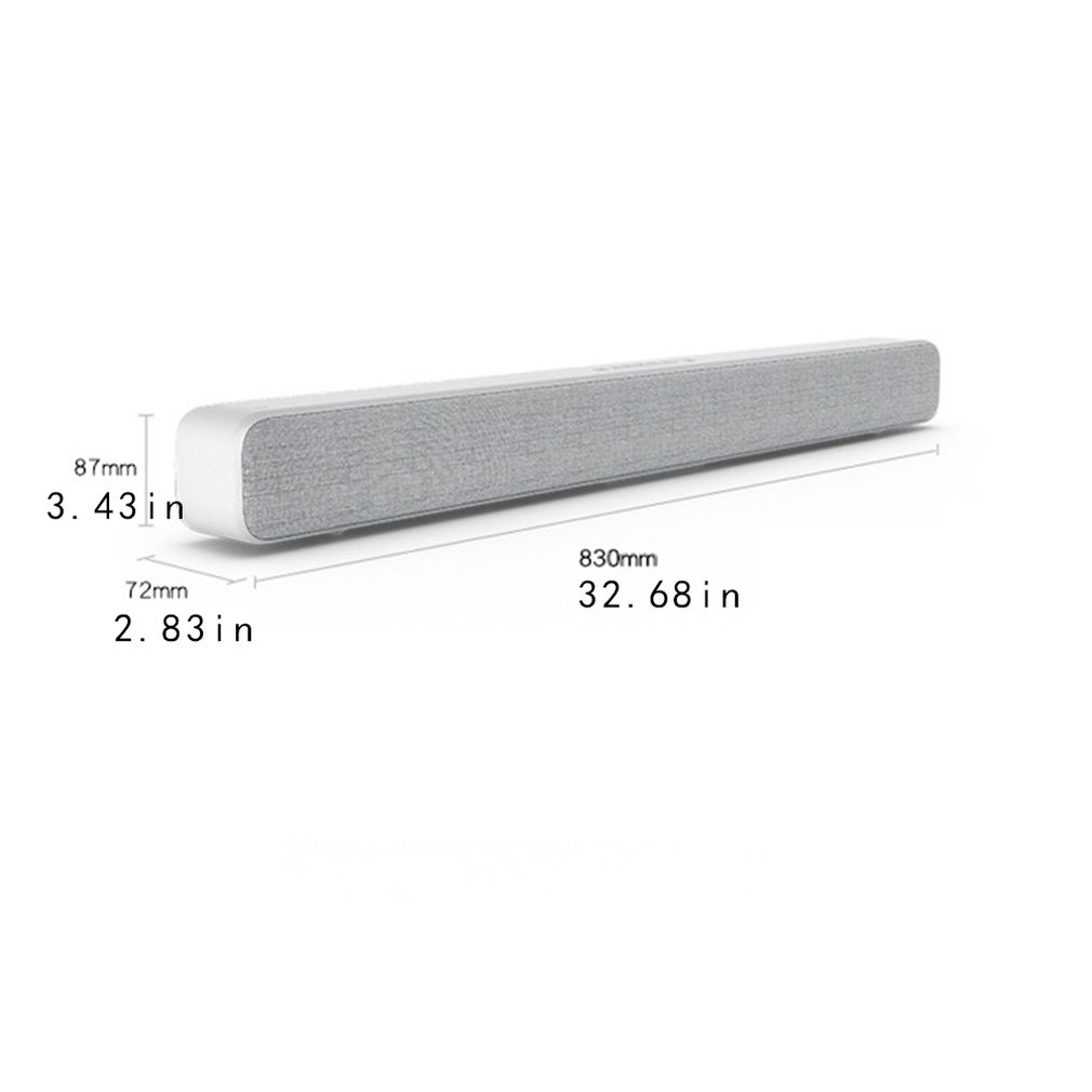 Xiaomi Mi Stylish Bar Shaped Speaker TV Computer Home Theater Speaker Wireless Wall mounting Smart Stereo Device in Soundbar from Consumer Electronics