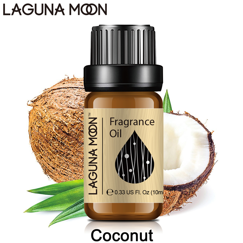 Lagunamoon 10ml Fragrance Oil Coconut Jasmine Orange Peppermint Patchouli Coffee Lotus Gardenia Chocolate Milk Oil Aroma