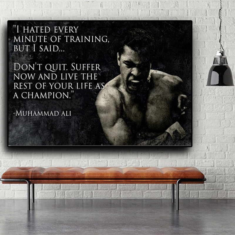 Muhammad-Ali-Motivational-Quote-Wall-Art-Pictures-Canvas-Painting-Nordic-Inspirational-Sport-Posters-Prints-Cuadros-Home
