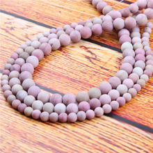 Matte Rosewood Natural Stone Bead Round Loose Spaced Beads 15 Inch Strand 4/6/8/10/12mm For Jewelry Making DIY Bracelet
