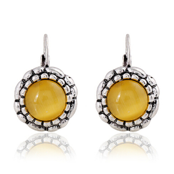 Round Vintage Drop Earrings Earrings Jewelry Women Jewelry Metal Color: H21517
