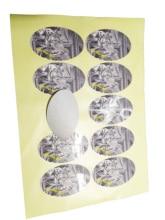 vinyl waterproof sticker printing custom/glossy laminated