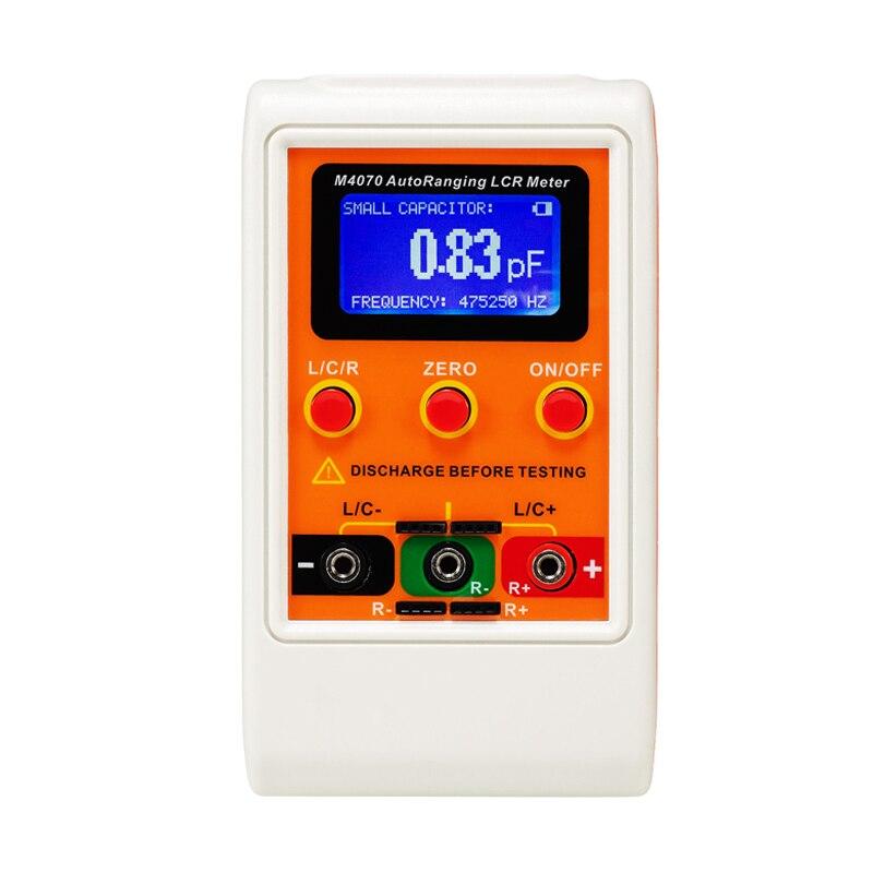 M4070 автоматическим переключением измеритель иммитанса до 100H 100mF 20MR, 1% точность 5 цифр дисплей оранжевого цвета, разрешение 0.01pF, 0.001uH, 0.01R