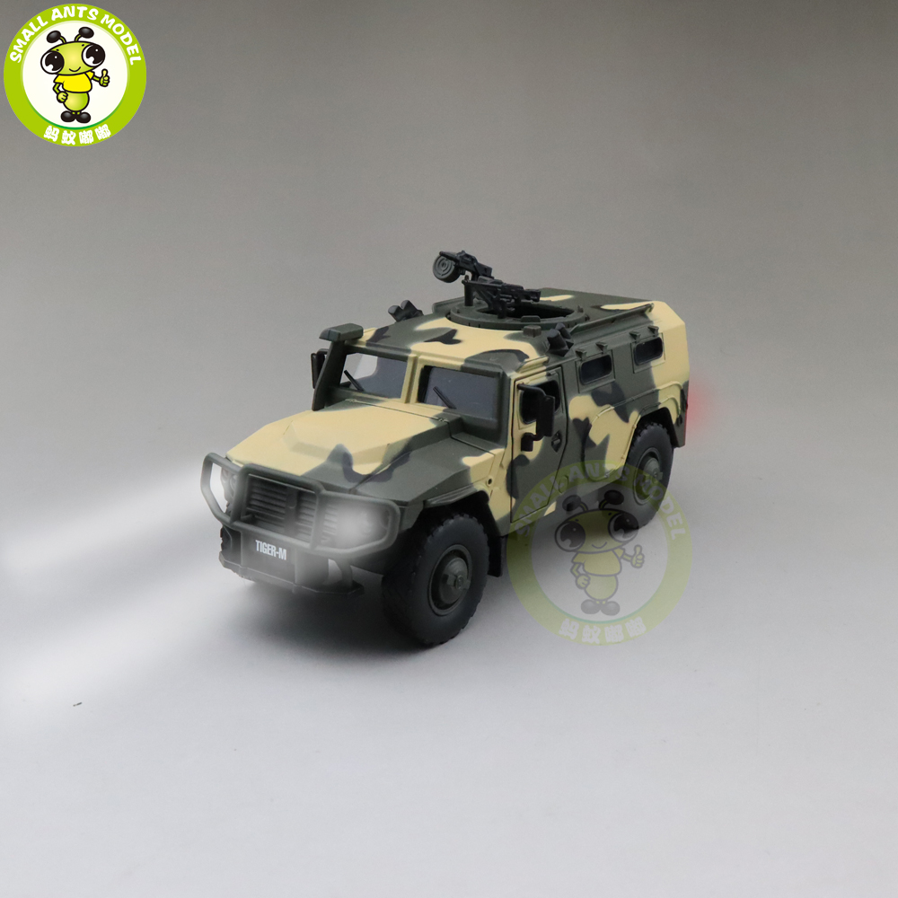 1/32 Jackiekim Russia SPM-2 Tiger M Armored Vehicle Military Army Diecast Model Toys For Kids Children Sound Lighting Gifts