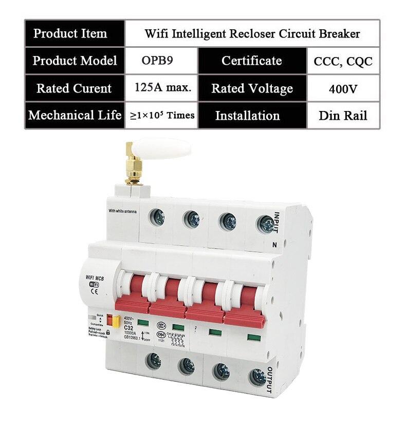 EWeLink 4P 16A-125A disjoncteur Wifi télécommandé/commutateur intelligent/prise en charge automatique du réperdant alexa et google home - 3