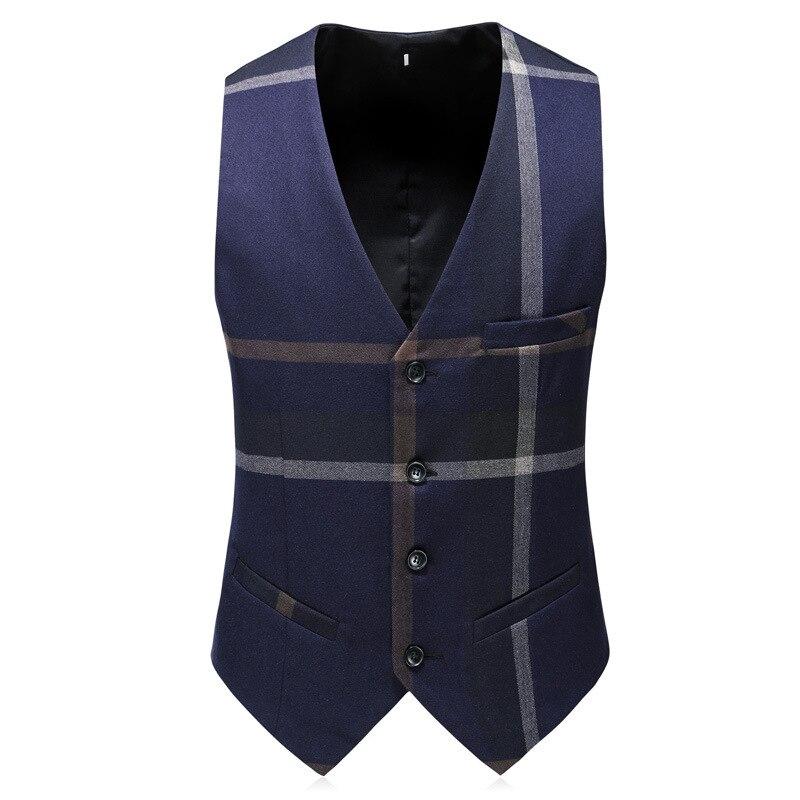 Последние конструкции пальто брюки бежевый мужской костюм для выпускного Slim Fit 3 предмета жениха Нарядные Костюмы для свадьбы для Для мужчи... - 5