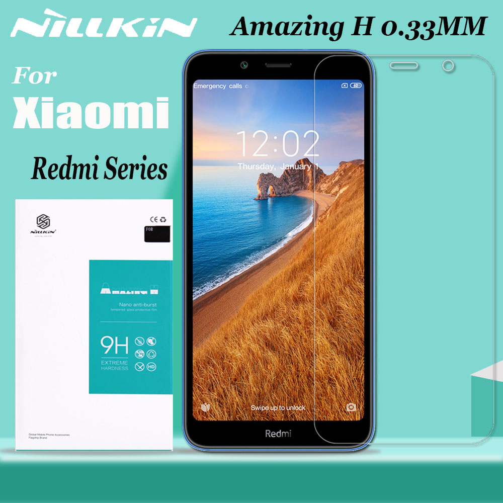 for Xiaomi Redmi Note 8 7 6 5 Pro Glass Screen Protector Nillkin 9H Clear Safety