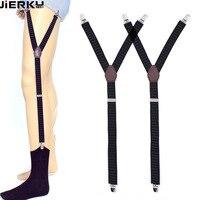Gourd Buckle Design Shirt Stays Garter Suspenders Elastic Men Braces for Shirt Holder Tirantes Adjustable Socks Fastener Garters