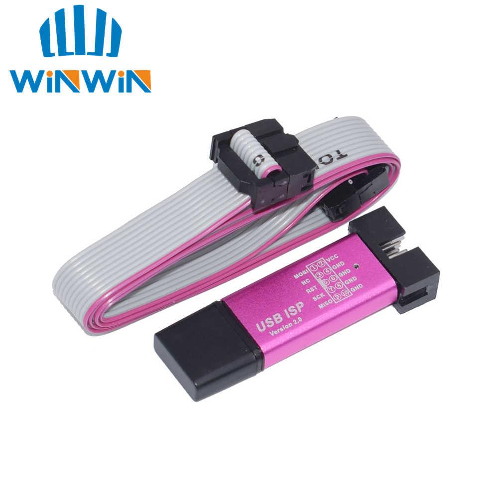 Алюминиевый корпус USB ISP USBISP USBASP ASP программатор для 51 ATMEL AVR WIN7 64 (случайный цвет)