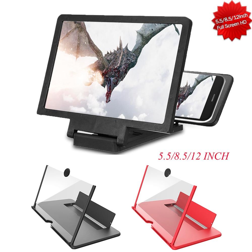 Hot 3D Enlarged Screen Mobile Phone Amplifier Magnifier Bracket Cellphone Holder Eyes Protection Hold