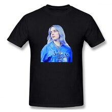 2019 Mens Basic Short Sleeve T-Shirt 3D Print t shirt Billie Eilish Music Singer Cotton Funny T-shirt homme Top Tees