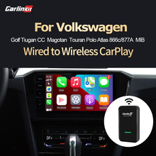 Carlinkit 2021 New2.0 sans fil adaptateur de jeu de voiture pour VW CC Golf coccinelle caddie Touran Jetta Caddy Tiguan Passat Plug & play USB Ios14