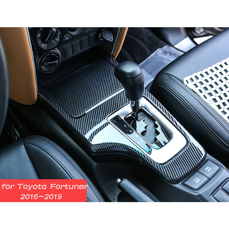 Gear Panel Handbrake Covers Decoration Water Cup Holder Frame Cover Trim Accessories For Toyota Fortuner 2016 2017 2018 2019