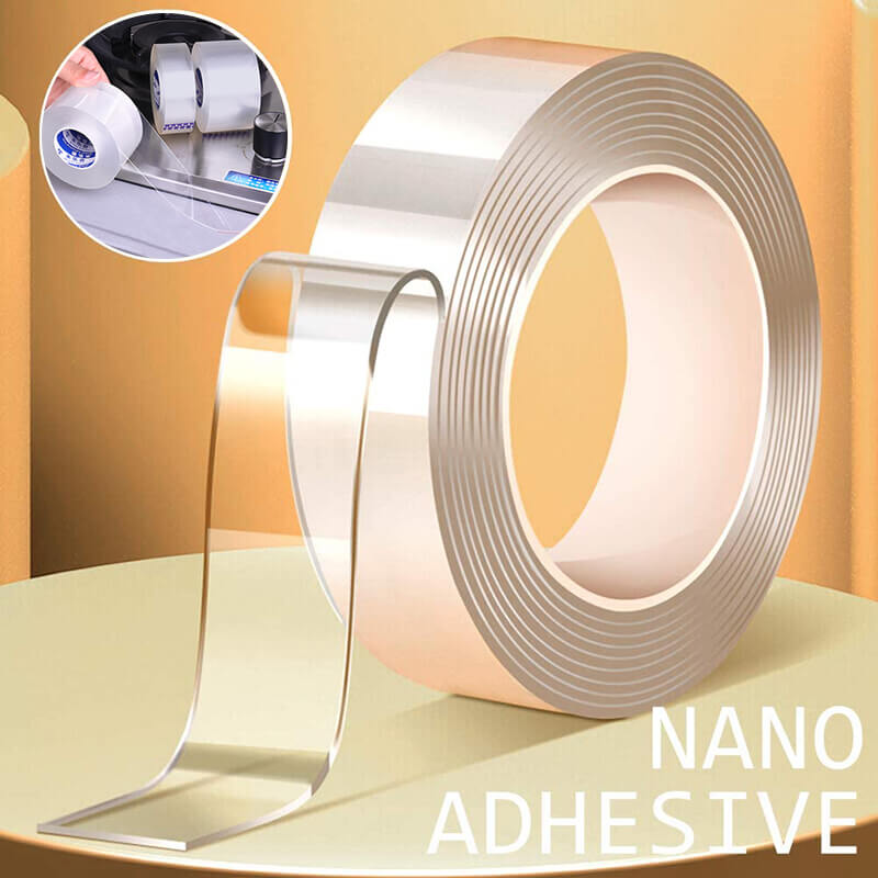 32.8 Feet  / 10 Meters Heavy-duty Nano Tape Reusable Multifunctional Detachable Double Sided Adhesive Glue Tape for Fixed Carpet