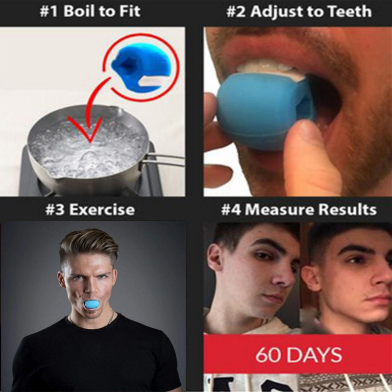 Face men facial pop n go mouth jawline Jawrsize Jaw chew ball chew bite 3