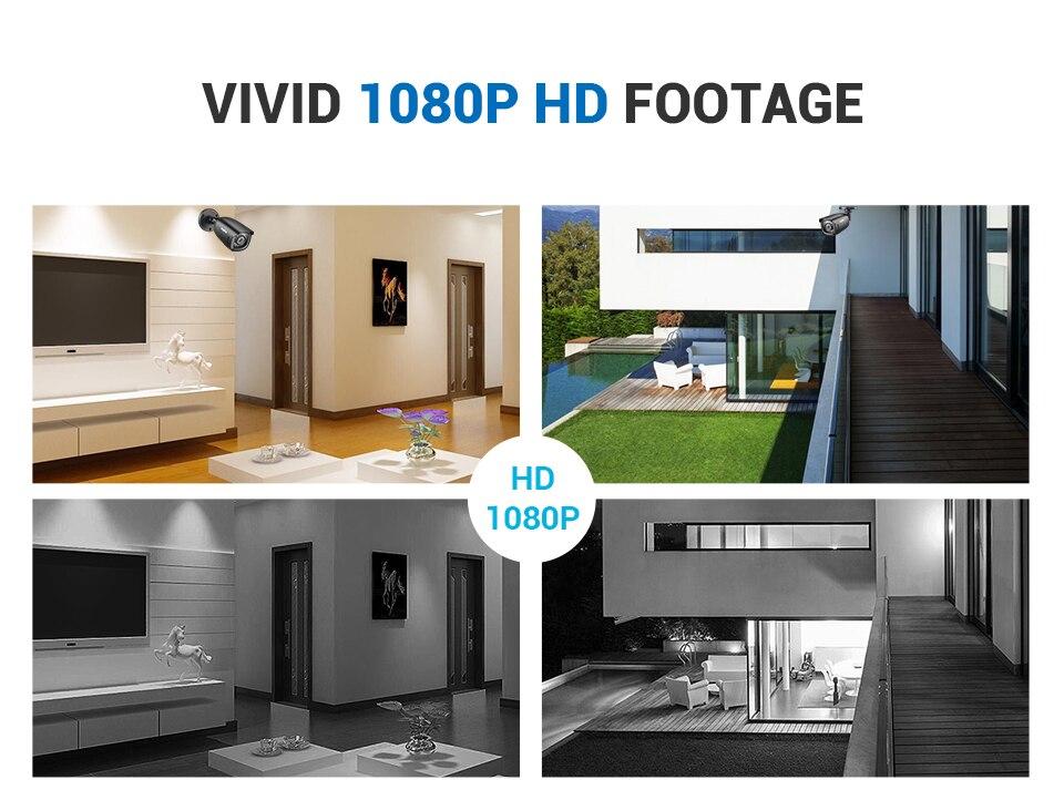 segurança vídeo 5in1 1080n hdmi dvr com
