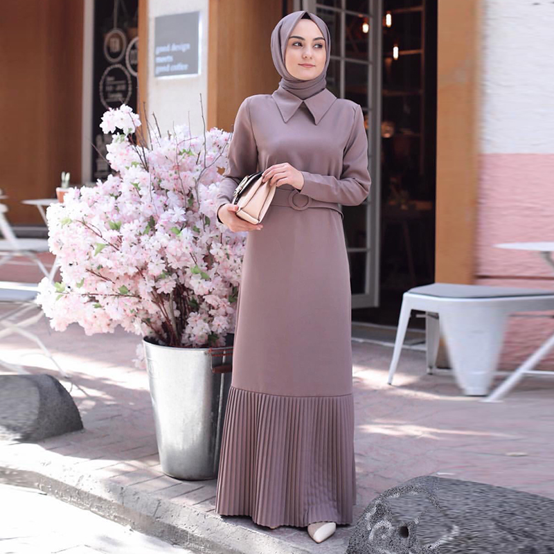 Pleated Abaya Dubai Turkish Muslim Dress Abayas For Women Evening Hijab Dresses Kaftan Turkey Islamic Clothing Caftan Kleding