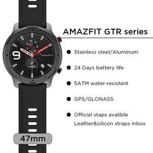 Image 4 - Global Version Amazfit GTR 47mm Smart Watch Huami 5ATM Waterproof Smartwatch 24 Days Battery GPS Music Control For Android IOS