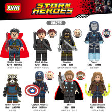 Avengers Legoings Captain Marvel Figure Spiderman Iron Man Kuno Satu Thor Hulk Mesin Perang Blok Bangunan Batu Bata Mainan(China)