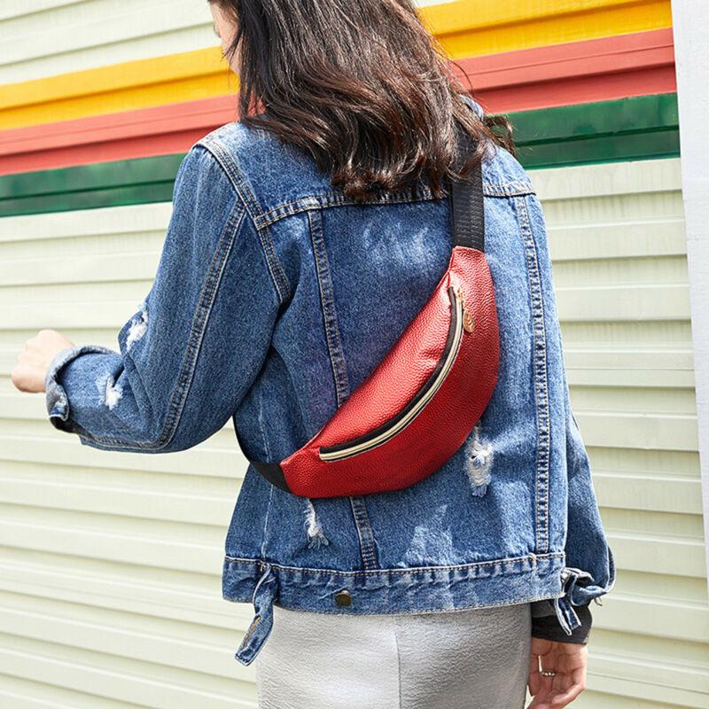 Women Sports Outdoor Running Waist Bag Fashion Delicate Texture Mobile Phone Bags Cross-bag Shoulder Bag Waist Packs
