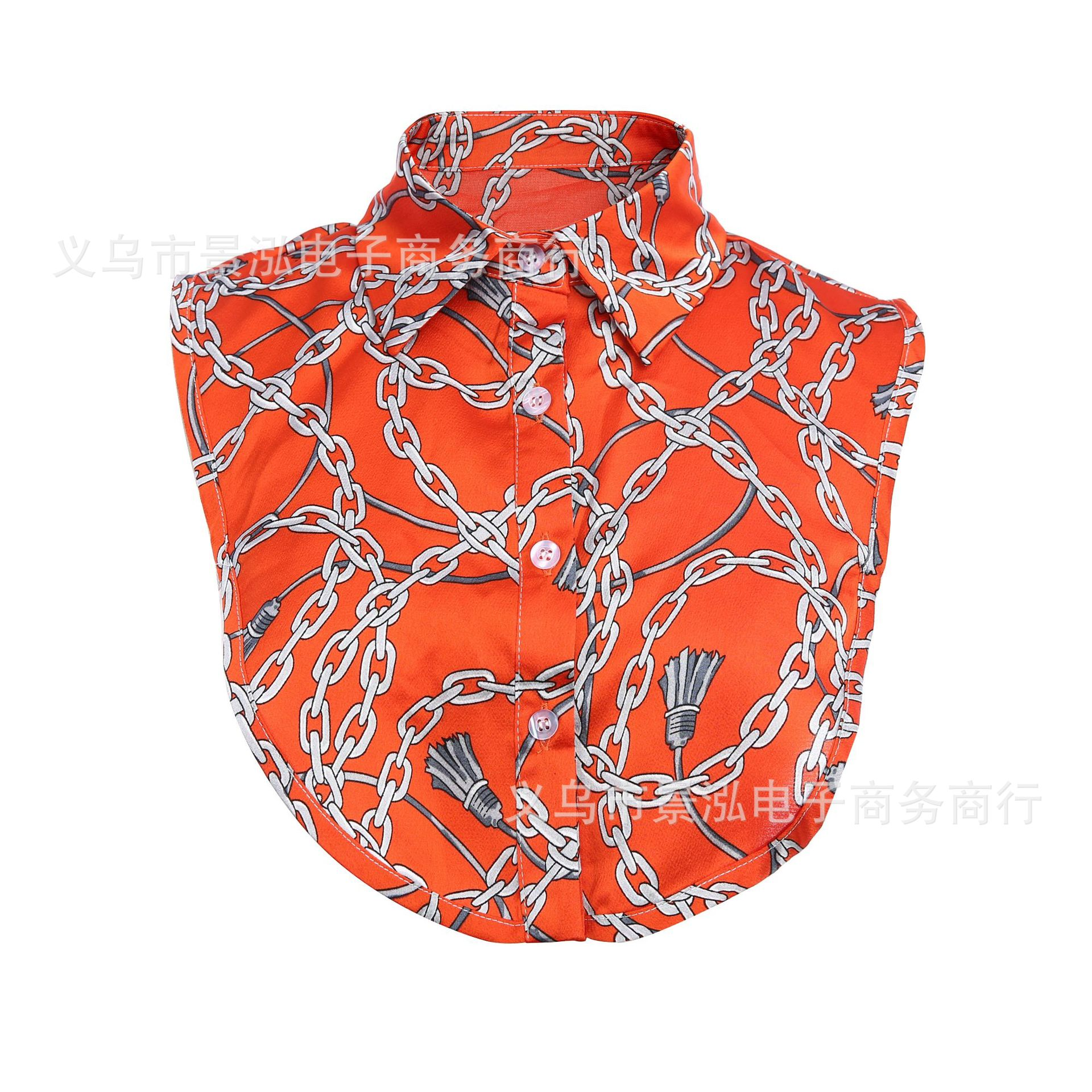 2019 Europe And America Chains Printed Pattern Polo New Style Fake Collar Collar Small Collar Small Clothes Small Underwear