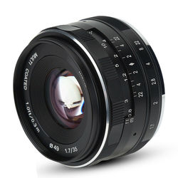 Meike Camera Lens MK-35mm F1.7 Large Aperture Manual Focus Lens for Sony Fuji Canon Nikon1 V1/V2/V3/S1/S2/J1/J2/J3/J4/J5 Camera