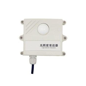 Taidacent 4-20mA0-5V/O-10V Analog RS485 Illuminance 0-65535Lux Temperature Humidity Light Intensity Sensor Transmitter for Farm weighing sensor transmitter 4 20ma analog communication 5v high precision 0 10v xk3190 c801