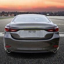 Для Mazda 6 M6 Atenza SEDAN углеродный Стиль Задняя Крышка багажника литьевая отделка автомобиля аксессуары для укладки
