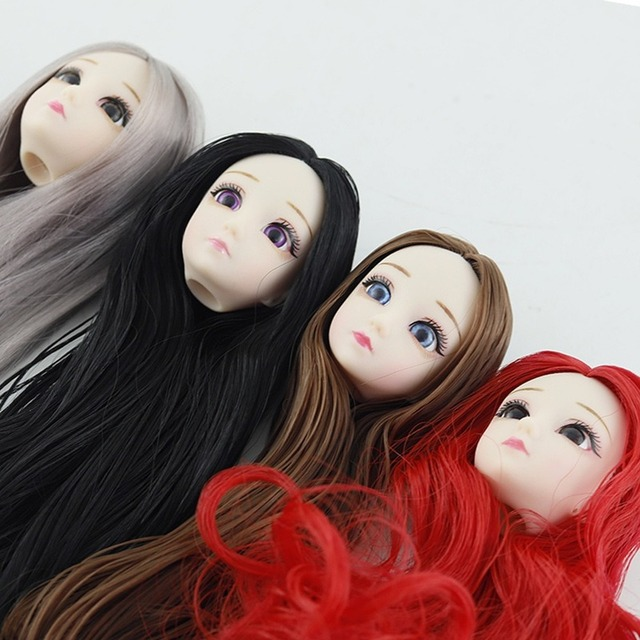BJD Doll 30cm 20 Movable Jointe Dolls 3D Eyes Bjd Plastic Doll for Girls Toys Long Wig Female Nude Body Fashion Christmas Gift 3