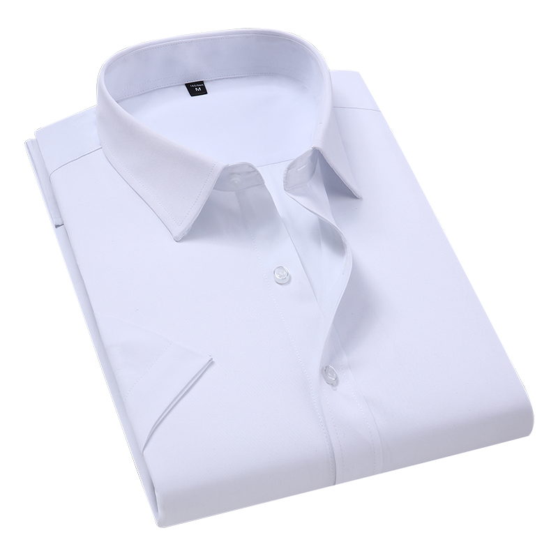 Plus Size 6XL 7XL Men's Solid Color Business Shirt Fashion Casual Slim White Long Sleeve Shirt Korean Fashion Professional Shirt