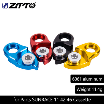 MTB Mountain Bike Road Bicycle Rear Hanger Derailleur Extension Extender for Parts SUNRACE 11 42 46 Cassette Colorful image