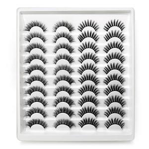 Image 2 - 40 çift 15 25mm doğal yanlış eyelashes takma kirpik uzun makyaj 3d vizon kirpik takma kirpik vizon kirpik güzellik için