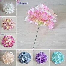 10 pièces 20cm grande soie hortensia fleur tige branche florale pour décoration de mariage bricolage fournitures murales florales