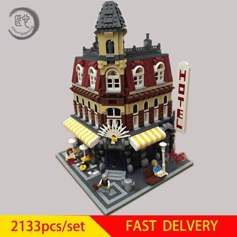 Nouvelle série Town Cafe coin modèle blocs de construction briques fit 10812 jouet éducatif modèle cadeau d'anniversaire enfants