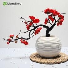Künstliche Blume Plum Blossom 1Pcs Vliesstoffe Papier Blumen Zweig San Valentin Dekoration Home Party Dekoration