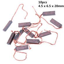 Brosses en carbone 4.5x6.5x20mm, remplacement de brosse à moteur électrique générique, générateur de fils, 10 pièces