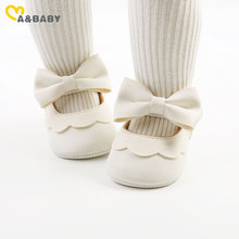 Ma&Baby 0-18M Toddler Newborn Infant Baby Girls Shoes Pu Leather Bow First Walkers  Princess Anti-Slip Shoes Birthday