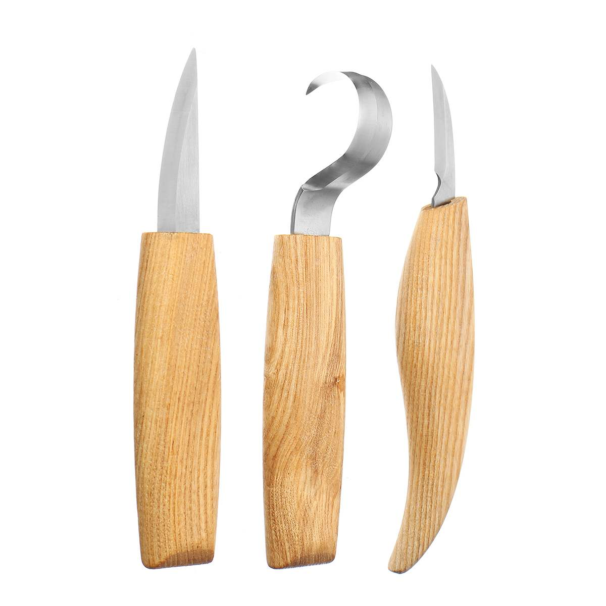 3PCS Spoon Carving Knife Woodcut DIY Hand Chisel Wood Carving Tools Woodcarving Cutter Chip Knives Woodworking Hand Tools