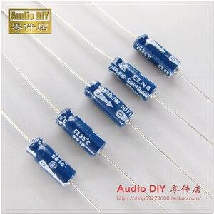 Image 2 - 20PCS NEW ELNA old 10uF/50V 5X15MM Japan original 10UF 50V axial electrolytic capacitor AUDIO blue 50V 10UF