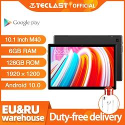 Newest 10.1 inch Tablet Teclast M40 Android 10.0 6GB RAM 128GB ROM Mali-G52 3EE GPU 8MP Camera Bluetooth 5.0 4G Phone Call WiFi