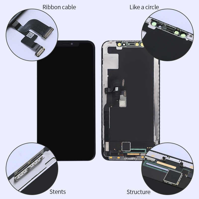 100% Được Kiểm Tra Màn Hình LCD Pantalla Cho Iphone X LCD 10 XS Màn Hình Màn Hình Bộ Số Hóa Cảm Ứng Cho IphoneX XS max XR OLED