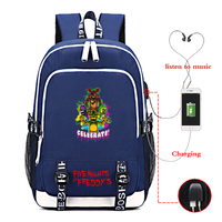 Five Nights At Freddy Backpack Girls Boys School Bags Children Kid Travel Bag Casual Backpack USB Charging Backpack