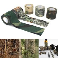 4,5*500 cm Camo camuflaje vendaje envoltura Rifle arma caza impermeable adhesivo Camo Stealth cinta vendaje al aire libre