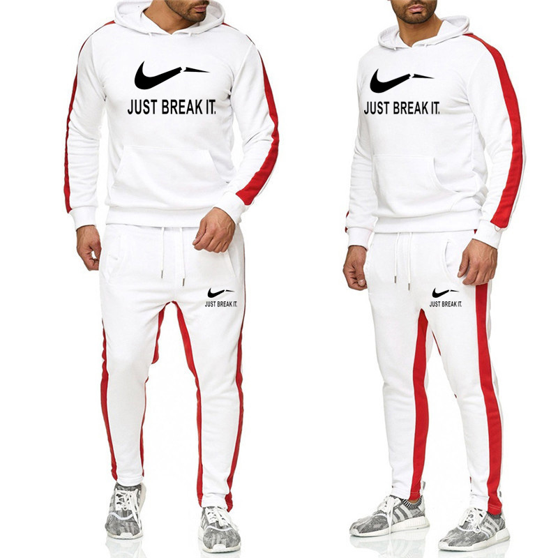 2019 New Men Two Piece Set Hoodies+Pants Set Spring Track Suit Clothes Casual Tracksuit Men Sweatshirts Male Joggers Streetwear